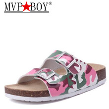 MVP BOY New 2018 Summer Style Beach Slippers Woman Cork Sandal Good Quality Zapatos Mujer Casual Flip Flop Plus 35-45