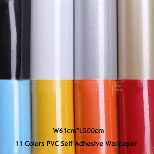 Furniture Self Adhesive Wallpaper Roll Kitchen Cabinet Wall Stickers PVC Wall Paper DIY