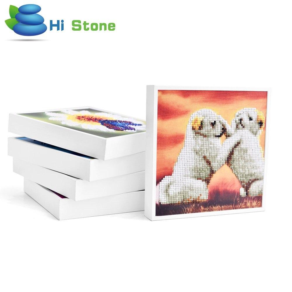 20*20 см белая рамка 5D поделки алмазов картина Животные собак Алмаз Вышивка крестом IQ игрушки для детей подарок домашний декор