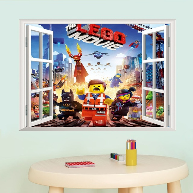 Newest 3D Cartoon Minecraft Lego Wall Sticker For Kids Room Wall Decals  Home Decoration Wall Murals