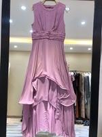 2019 летнее женское фиолетовое платье Элегантное модное женское платье 0316