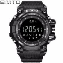 GIMTO Black Outdoor Sport Smart Watch Men Shock Silicone Digital LED Waterproof Clock electronic wrist watches