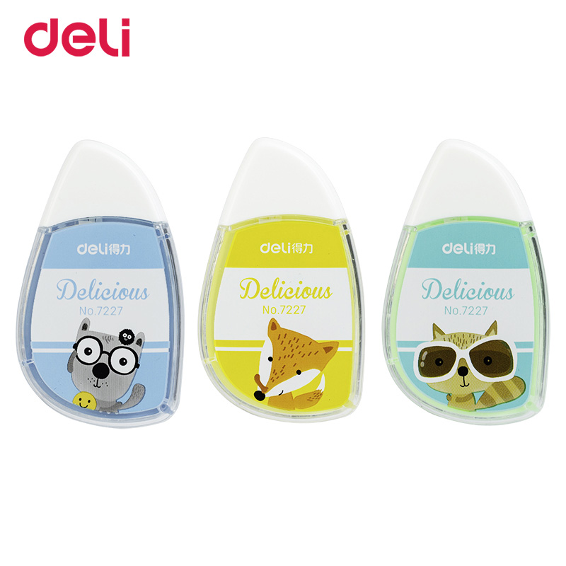 Deli Colorful Creative Kawaii Animal Correction Tape 6m*5mm School Office Stationary Supplies Gifts Novelty Wholesale Item
