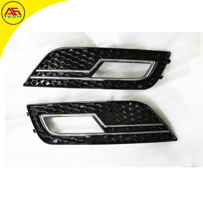 Black+chrome Line S4 RS4 Facelift Foglamp Cover Car Front