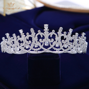 Image 4 - New Brides Heart Shape Full Zircon Brides Tiaras Crowns Sparking Bridal Hairbands Plated Crystal Wedding Hair Accessories