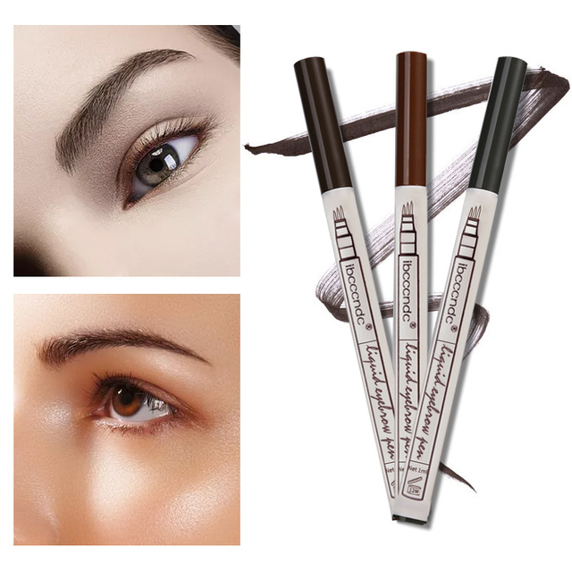 Microblading Eyebrow Tattoo Pen Fine Sketch Liquid Eyebrow Pen Waterproof Tattoo Eye Brow Pencil Smudge-proof Dropshipping 2