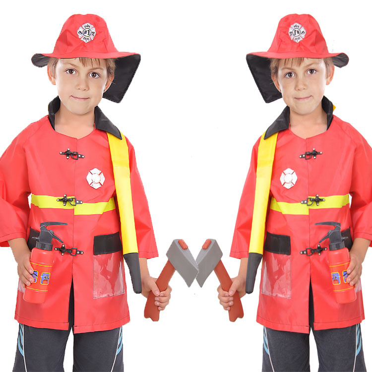 Halloween Show Dressed In Children's Games, Professional Clothes, Character Clothes, Firefighter Suits