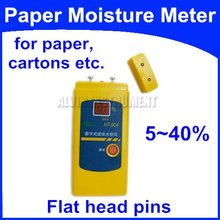 Free Shipping Paper Moisture Meter Tester for all types of paper cardboard corrugated boxes single sheet