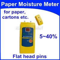 Free Shipping Paper Moisture Meter Tester for all types of paper, cardboard, corrugated boxes, single sheet of paper
