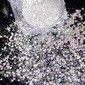 1 Caja de 3g de Queso de Uñas Lentejuelas Uñas Hexágono Glitter Holográfica de Hadas Polvo Del Brillo Brillante Polvo Manicura Nail Art Decoración SN29