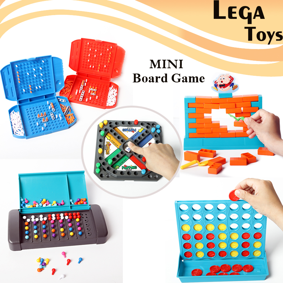 5 Styles MINI Board Game Popping Movers, Humpty Dumpty Wall Brick,Code Breaking,Line Up 4 In A Row,Sea Battle Educational Toys