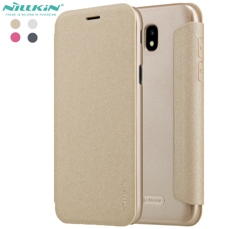 Cases For Galaxy J5 2017 Leather Case Nillkin PU Frosted Cover Case For samsung galaxy