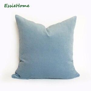 ESSIE домашний роскошный небесно-голубой светло-голубой Бархатный Чехол для подушки наволочка для подушки