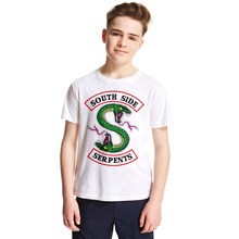Riverdale Kids T Shirt Summer Style Tops Tees Boys Girls South Side Serpents T-Shirt for Children Jughead Jones Archie Andrews(China)