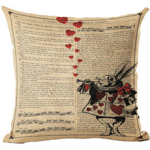 Pillow Covers With Alice In Wonderland Designs
