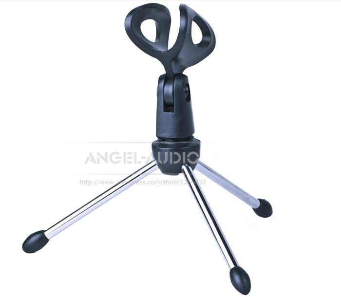 משלוח חינם פרימיום איכות SNDB מתכת-Made רגליים Contruction חצובה מתקפל שולחן העבודה הקבל דינמי מיקרופון Stand מחזיק
