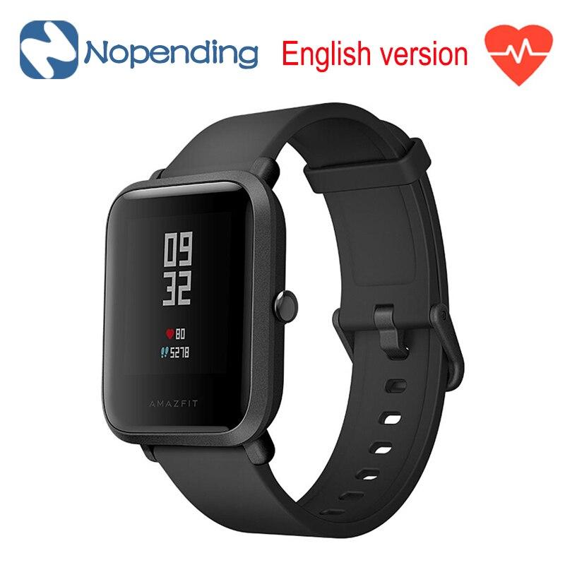 Novo Original Em Inglês Huami Amazônia Bip Lite Esportes Relógio Inteligente GPS Smartwatch Gloness 45 Dias Rastreador De Fitness Monitor de Freqüência Cardíaca