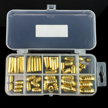Best price 50Pcs/Box Copper Bullet Weights Fishing Sinkers 1.8g/3.5g/5g/7g/10g in Plastic Fishing Accessories Tackle Box 127x60x23mm