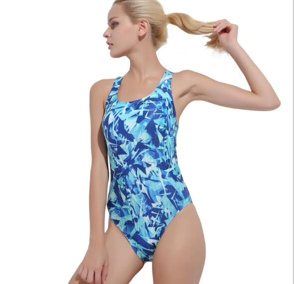 cf77efff90 Women's Sexy Swimsuits Boyleg Sports Swimwear Printed Racerback Bathing  Suits 2XL Blue Pink Free Shipping-in Bikinis Set from Sports &  Entertainment on ...