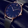 Nueva Top marca de relojes de lujo de Los Hombres de acero lleno del vestido relojes moda casual Señoras reloj de mesa reloj de cuarzo Rosa de oro Femenina