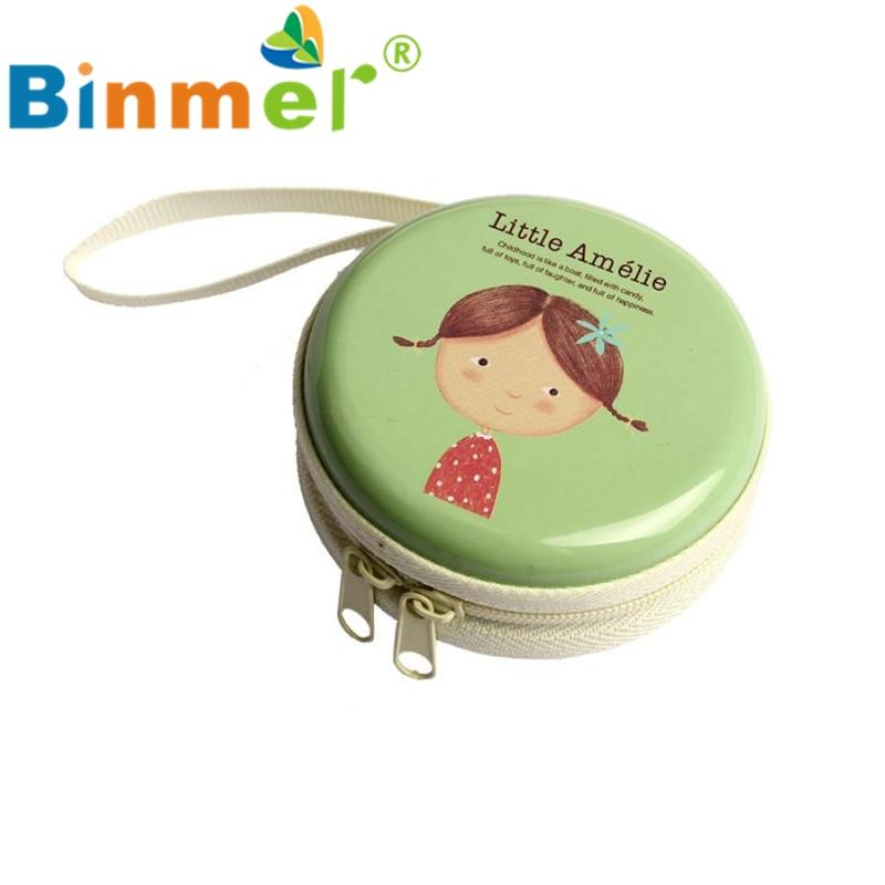 Beautiful Gift New Green Mini Zipper Earphone Headphone SD Card Box Bag Carrying Pouch Storage Wholesale price Feb17