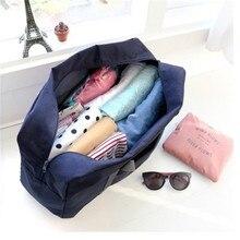 Oxford cloth pvc round standard trolley bag folding travel storage box bedroom finishing
