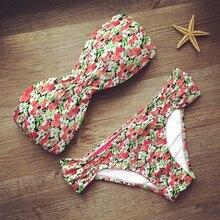 New bandage beach strapless swimwear bikinis 2019 women swimsuit sexy bikini brazilian set biquini bathing suits 485