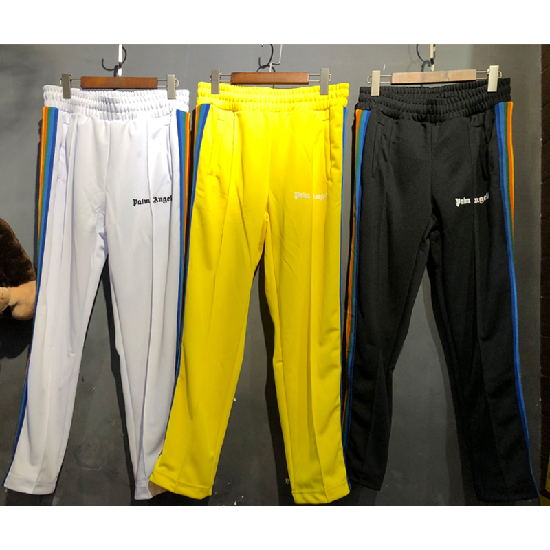 Palm Angels Sweatpants Striped Full Length High Quality Women Men Pants Fashion Casual Palm Angels New Sweatpants Palm Angels
