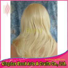 7A best bond hair products blonde full lace wigs human hair 613# blonde lace front wig with baby hair