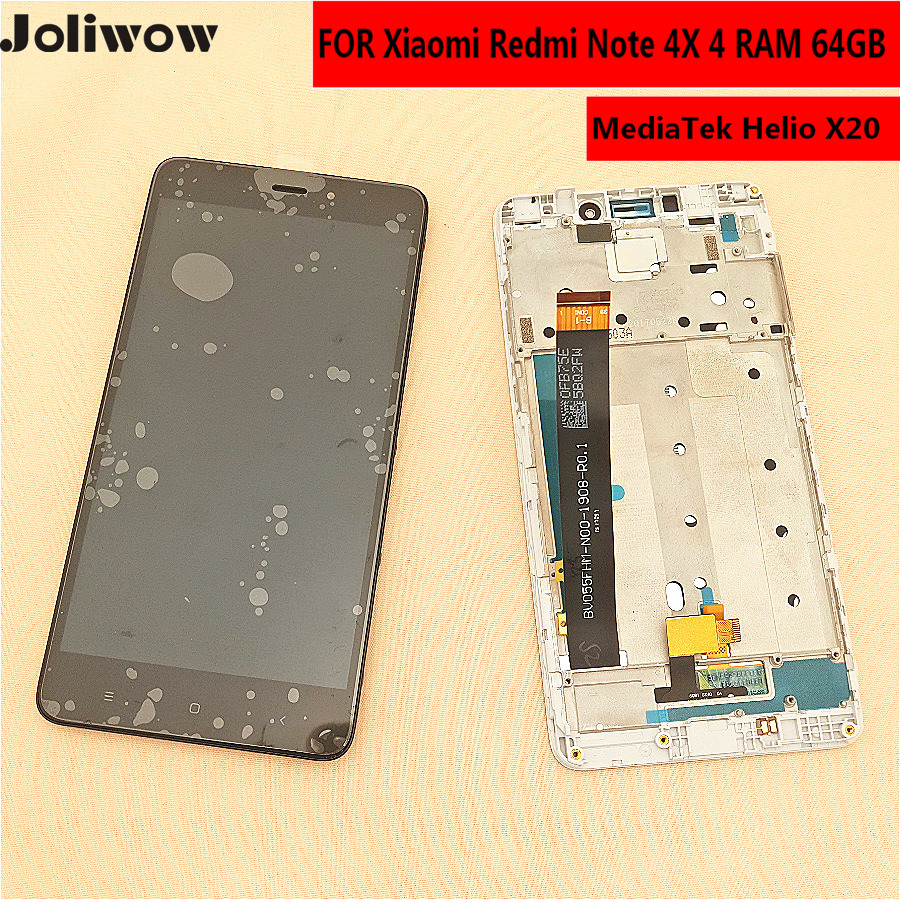 For Xiaomi <font><b>Redmi</b></font> <font><b>Note</b></font> 4X PRO / <font><b>Note</b></font> <font><b>4</b></font> Global version LCD Display+Touch <font><b>Screen</b></font>+ <font><b>frame</b></font> for <font><b>Redmi</b></font> Note4X MediaTek MTK Helio X20 image