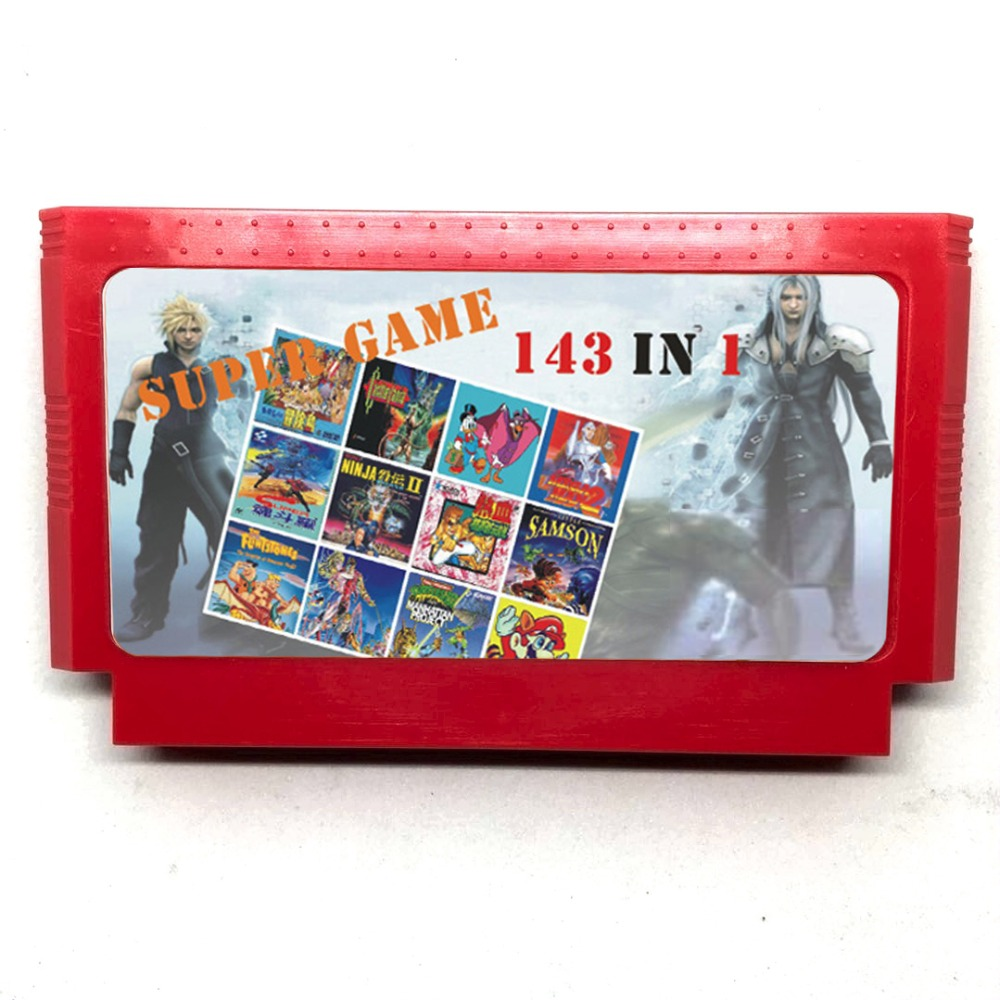 143 in 1 60 Pins 8 bit Game Cartridge including Earthbound Final Fantasy 1 2 3 Kirbys Adventure Star Wars