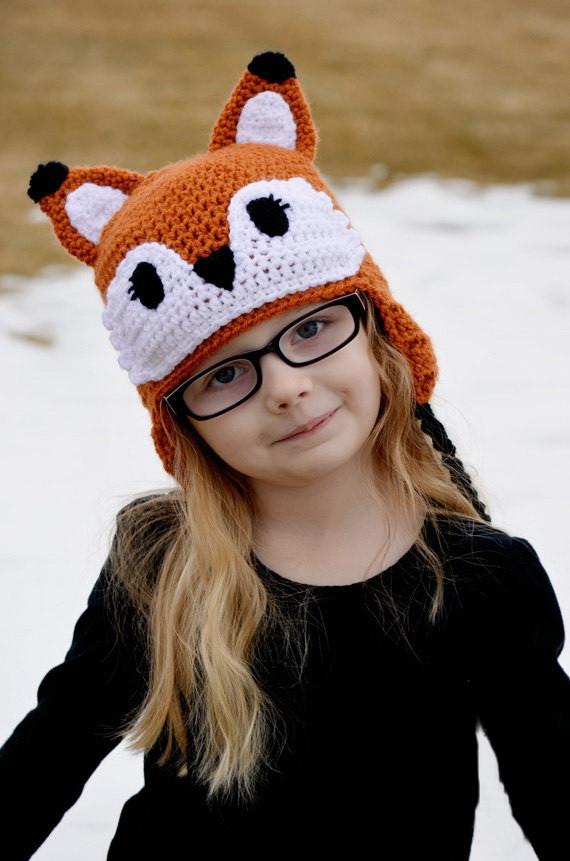 Cartoon Zootopia Hat Crochet Fox Hat Toddler Hat Children Hat