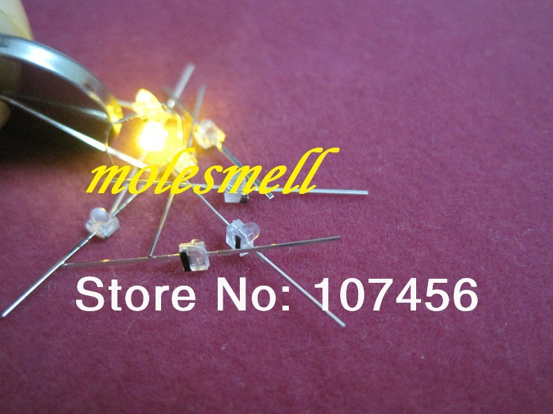 New 1.5mm Mini Blue Water Clear LED Leds Free Resistors Made in Taiwan 100pcs