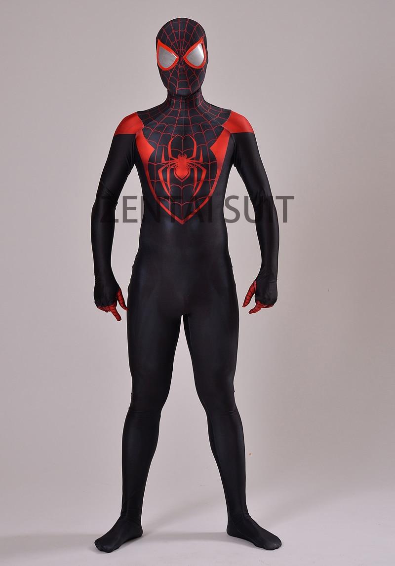 Ultimate Miles Morales Spider-Man jelmez 3D nyomtatás Spandex Lycra - Jelmezek