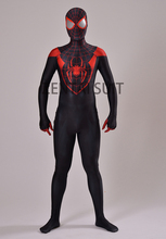 Ultimate Miles Morales Spider-Man Costume 3D Printing Spandex Lycra Fullbody Spiderman Costume For Halloween Cosplay Hot Sale