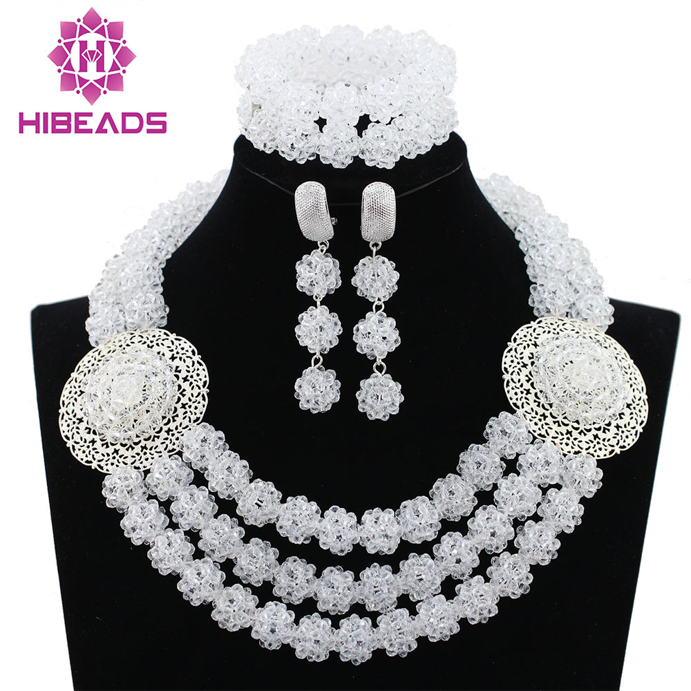 Pure White Crystal Balls Women Party Jewelry Set Silver Plated Nigerian Wedding African Beads Jewelry Sets Free Shipping ABK989 нож rondell rd 688 cascara длина лезвия 127мм