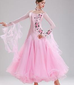 Image 3 - Vestiti דה ballo סטנדרטי דונה ואלס שמלת vals ריקוד שמלת kadın אולם נשפים שמלת ירוק אדום אישית