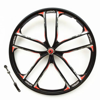 Sale MTB Magnesium Alloy Bicycle Wheel 26 Mountain Bike Wheel for 8,9,10,11 Speed Suitable for Disc Brake