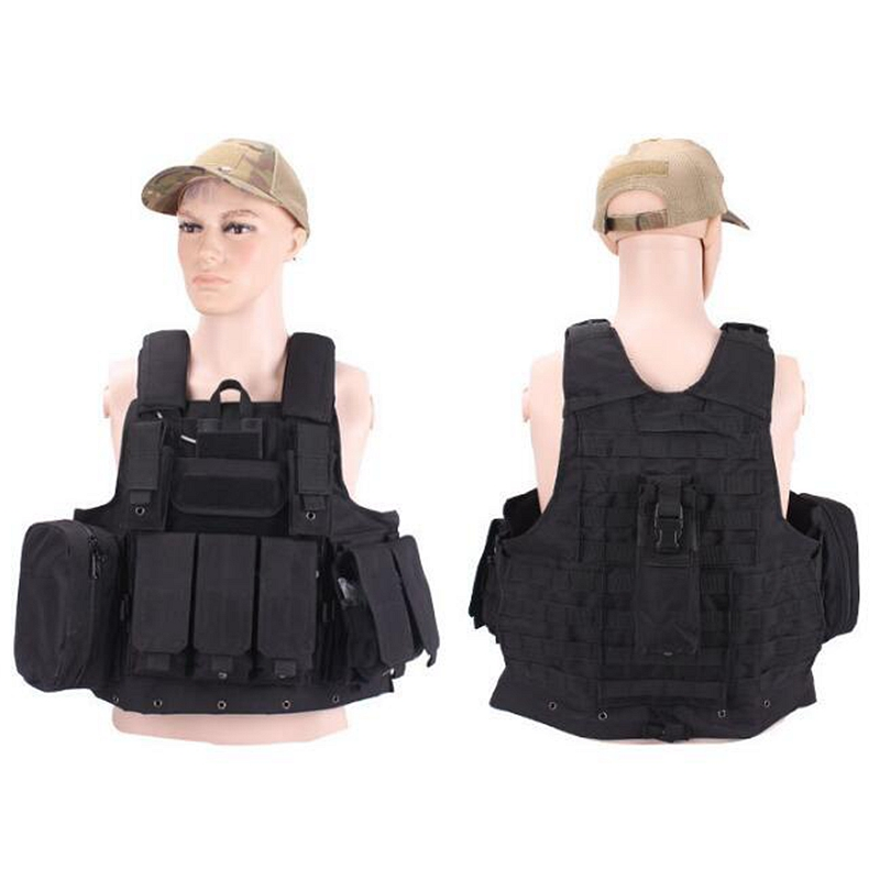 New Outdoor Molle CIRAS Tactical Vest Airsoft Paintball Combat Vest W/Magazine Pouch Releasable Armor Plate Carrier Strike Vests headband headset led head light magnifier magnifying glass loupe 5 lens set page 1