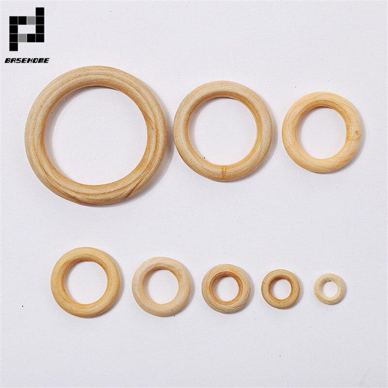 Деревянные круглые кольца BASEHOME для ручных аксессуаров, 10 шт., 15-100 мм