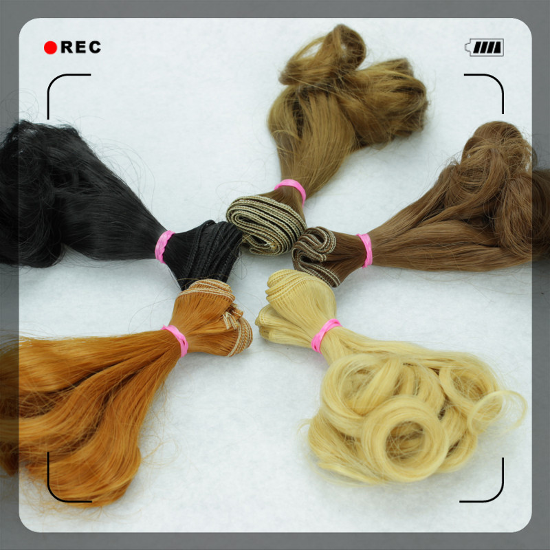 100PCS LOT Wholesale 15CM BJD Doll Wigs Handmade Synthetic DIY Hair For Dolls Curls