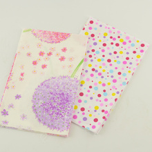 40 X50 Hotel Bed Sheet Patchwork Fat Quarter Home Textile Flower Pattern Cotton Twill Fabric Light Pink Color Dress Decoration