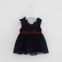 Baby Girl Dress Newborn Party Princess Infant Dress Bow Lace Wedding Sleeveless Christmas Kids Flower Dresses