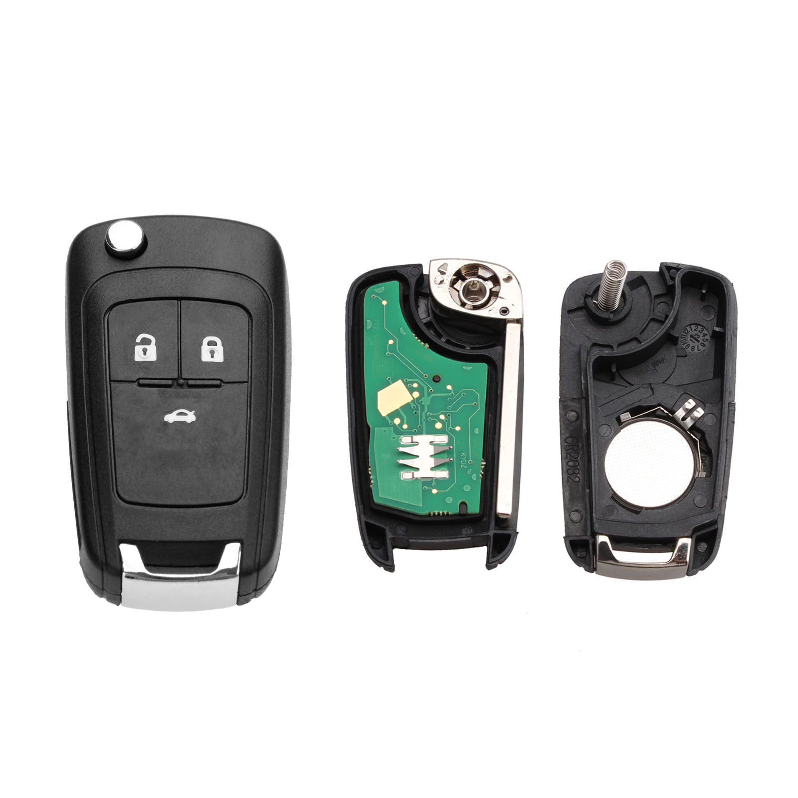 3 Buttons 433 MHz Car <font><b>Remote</b></font> <font><b>Key</b></font> For <font><b>Opel</b></font> Vauxhall Astra J, Corsa E, Insignia, Zafira C with ID46 / PCF7941 Chip HU100 Blade image