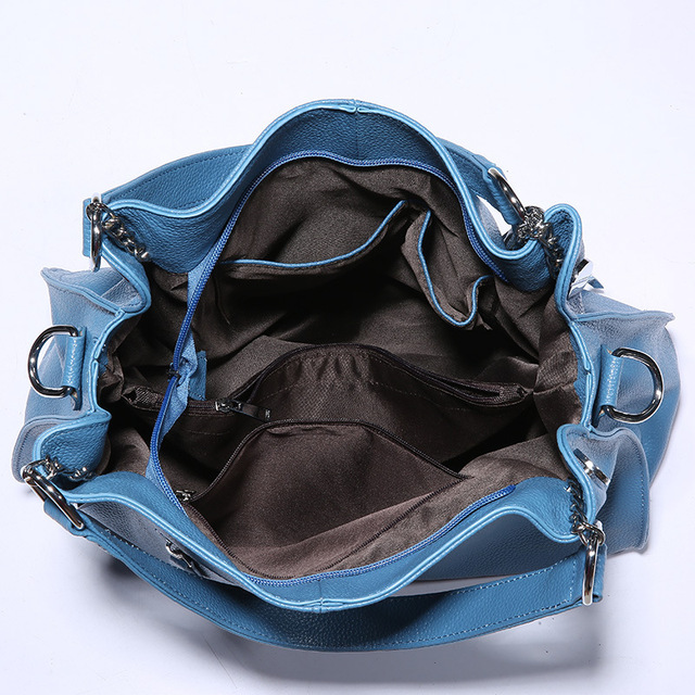 KZNI Genuine Leather Purse Crossbody Shoulder Women Bag Clutch Female Handbags Sac a Main Femme De Marque L112052