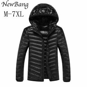 Image 2 - NewBang Marke 8XL 9XL 10XL männer Unten jacke Ultra Licht Unten Jacke Männer Leichte Feder Mit Kapuze Warme Tragbare Winter mantel
