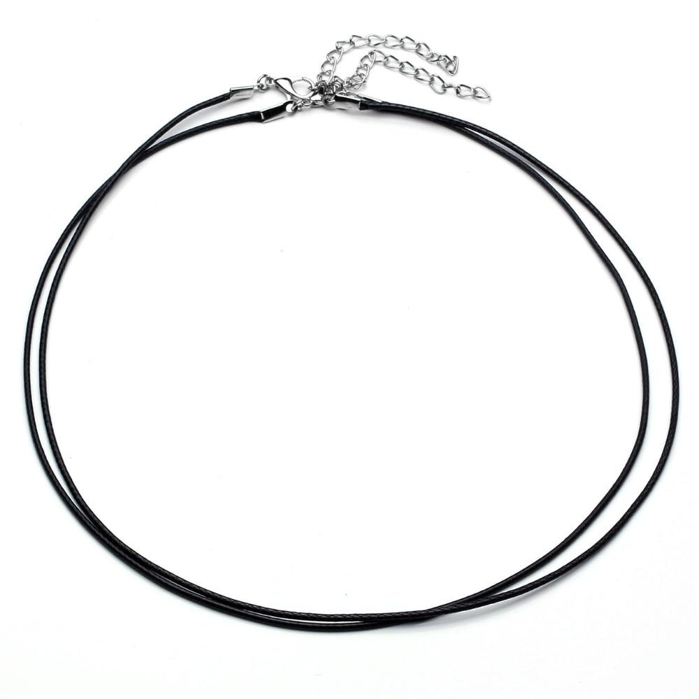Halsketten & Anhänger 100% Wahr Ayliss Großhandel 10 Stücke 1,5mm Koreanische Wachs String Erweiterbar Halskette Kette Schmuck Diy Karabinerverschluss Waxen Cord Halskette 45-49 Cm