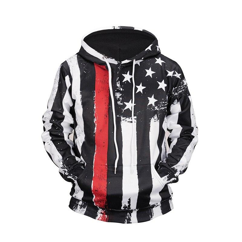 USA drapeau à capuche sweat à capuche rayé hommes 3D Sweatshirts à capuche Streetwear haute qualité à manches longues vêtements à capuche livraison directe