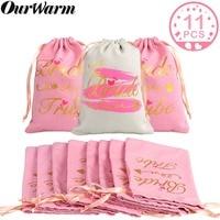OurWarm 11 шт. Свадебная сумка для душа подарки для гостей девичник вечерние сумки подарок для невесты Свадебный декор