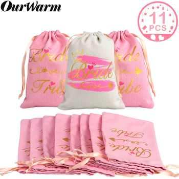 OurWarm 11pcs Bridal Shower Favor Bag Guest Gifts Bachelorette Party Party Favors Bags Bridesmaid Gift Wedding Decor - Category 🛒 Home & Garden